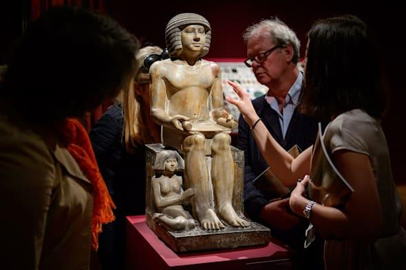 The limestone statue of Sekhemka has sold for more than £15 million at an auction by Christie's in London.