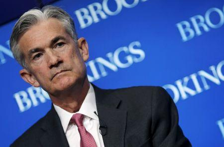 FILE PHOTO: Federal Reserve Governor Jerome Powell attends a conference at the Brookings Institution in Washington August 3, 2015. REUTERS/Carlos Barria/File Photo