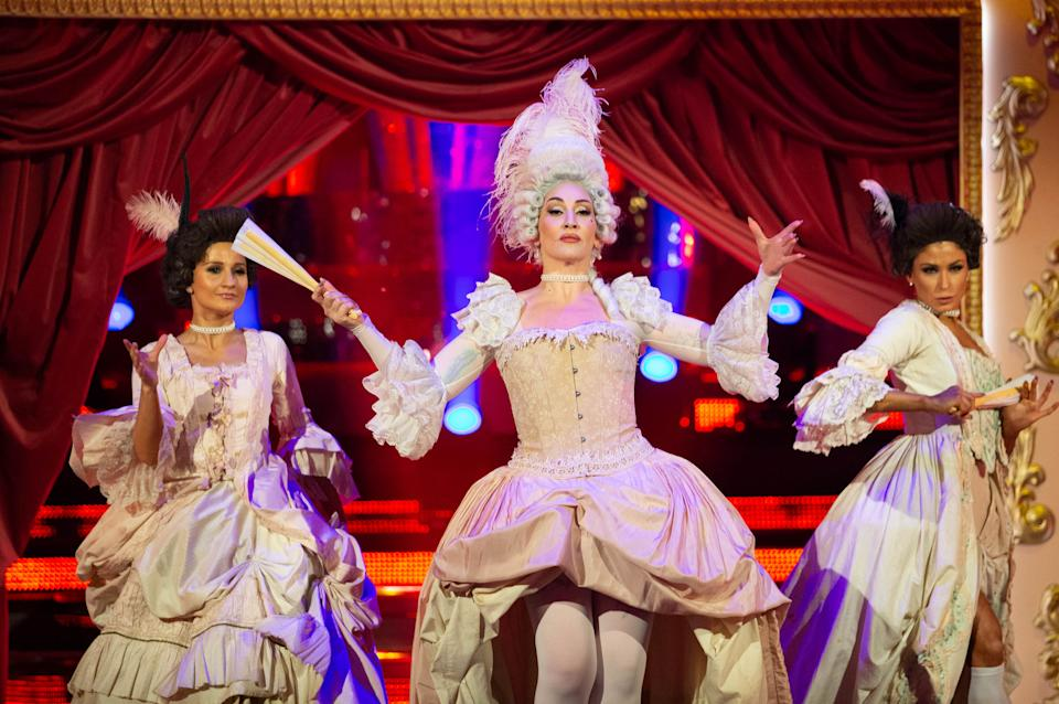Michelle Visage celebrated ball culture with her Couple's Choice Vogue performance (Credit: BBC)