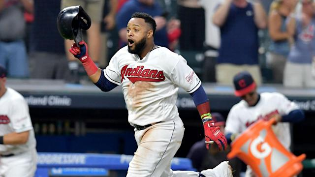 The Cleveland Indians topped the Boston Red Sox to move ahead of the Minnesota Twins in the AL Central.