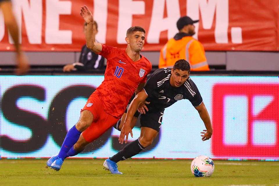 Christian Pulisic and the USMNT have lost twice to Mexico in the past five months, once in the Gold Cup final and again in a drubbing in September. (Photo by Rich Graessle/Icon Sportswire via Getty Images)e)