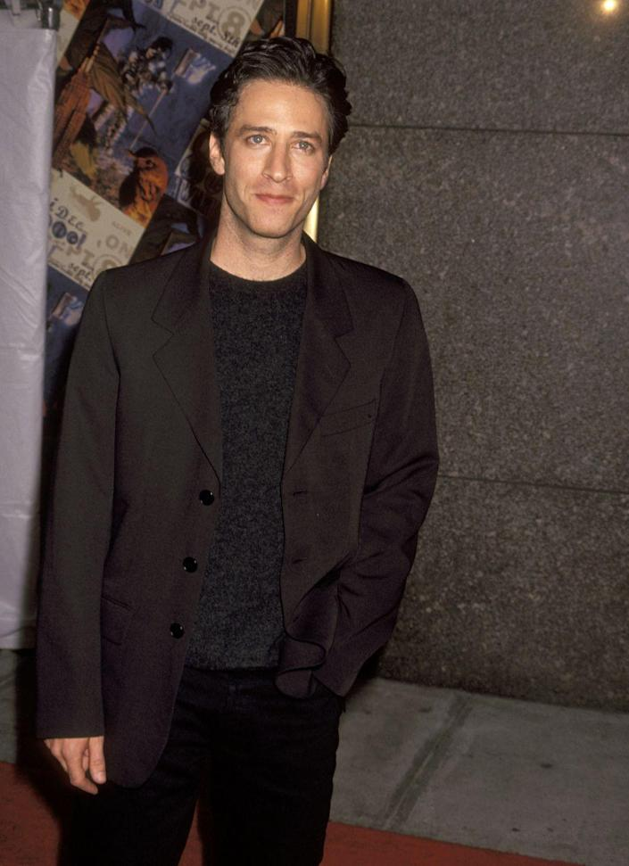 <p>In a time before <em>The Daily Show,</em> Stewart had another daily talk show on MTV. <em>The Jon Stewart Show</em> aired from 1993-1995 with Stewart at the helm interviewing everyone from Howard Stern to David Letterman to Courteney Cox. Given that it was on a network still known as music television, the show was a huge platform for musical guests like The Notorious B.I.G, Warren Zevon and Sinéad O'Connor. An incident with Marilyn Manson's frontman setting fire to a Bible seemed to put the nail in the coffin for this late-night talk show. </p>