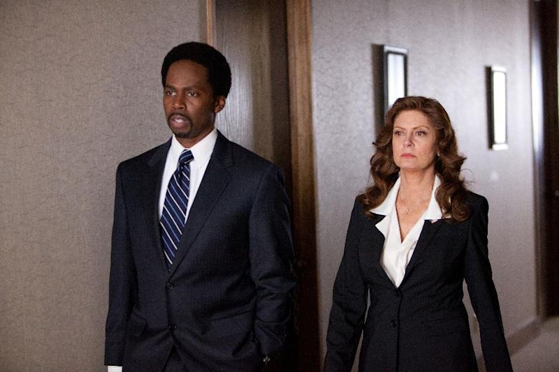 "This film image released by Summit Entertainment shows Harold Perrineau, left, and Susan Sarandon in a scene from ""Snitch."" (AP Photo/Summit Entertainment, Steve Dietl)"