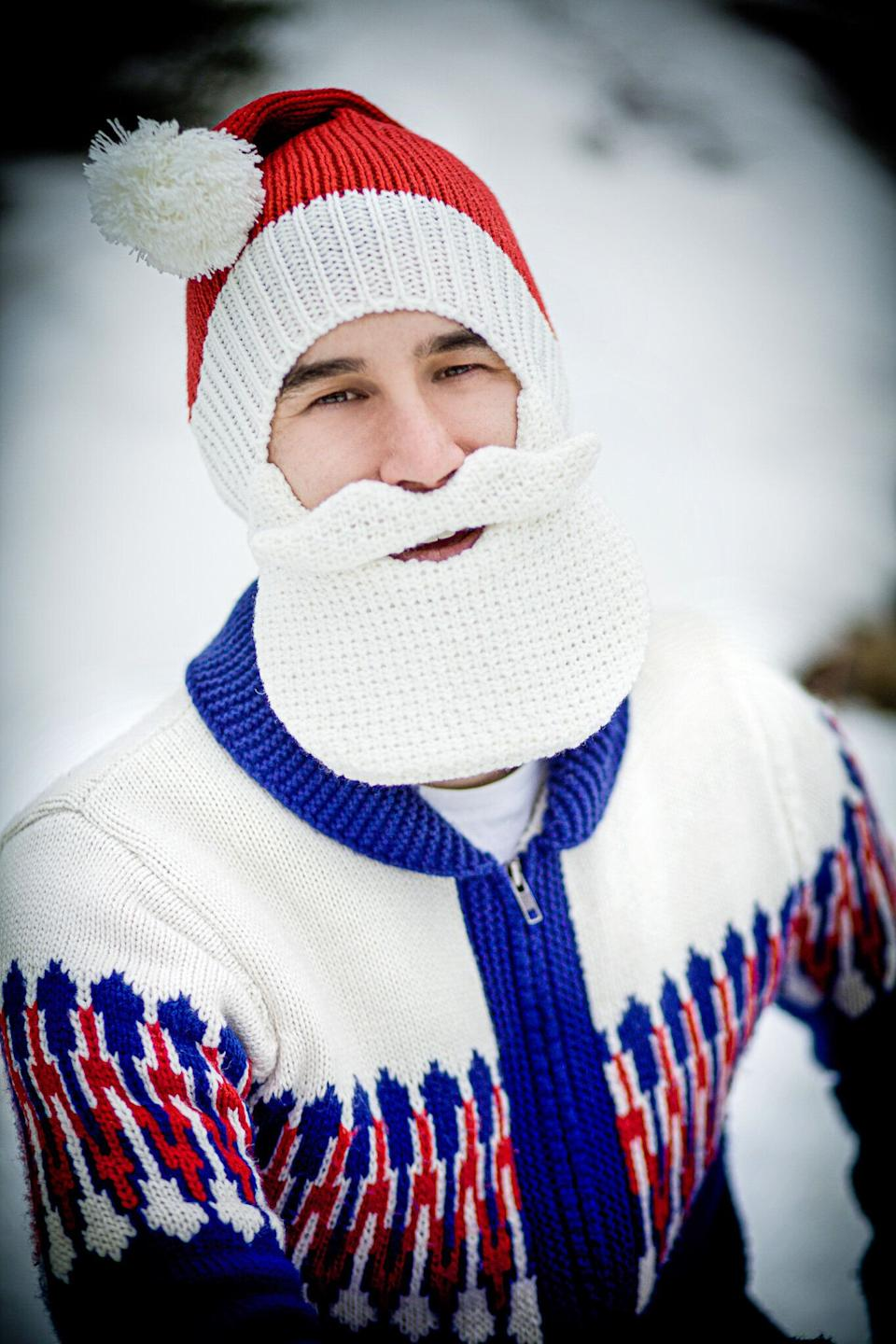 """<a href=""""https://beardhead.com/products/santa-beard-head?variant=17977177091"""" target=""""_blank"""" rel=""""noopener noreferrer"""">A Santa hat and fake beard</a> are good things to have this time of year. But typically, those products aren't made for warmth. This version will keep your face warm all winter long, even after your loved ones tell you """"Christmas is over."""""""