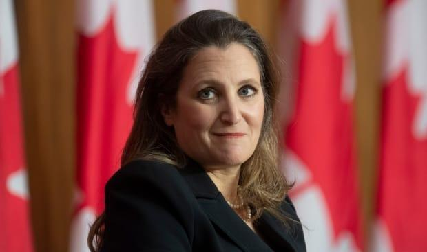 Finance Minister Chrystia Freeland's 739-page omnibus budget tabled Monday contains several provisions that have little to do with government spending or the economy. (Adrian Wyld/The Canadian Press - image credit)