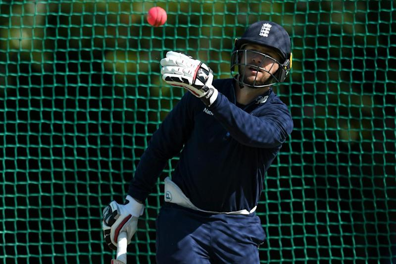 Calm before a storm: Mark Stoneman in the nets on Wednesday ahead of his England debut: Getty Images