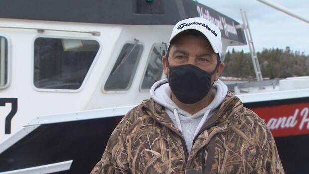 Fisherman Darrell Countway says he spent weeks getting his mackerel trap gear into place for the upcoming season.  (CBC - image credit)