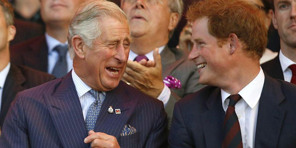 <p>Laughing with Prince Harry during the opening ceremony of the Invictus Games in London. </p>