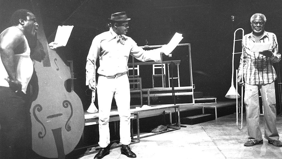 Ma Rainey's Black Bottom had its first onstage reading at the Eugene O'Neill Theater Center in Connecticut in 1982 with (from L-R)Leonard Jackson (Slow Drag) Charles S Dutton (Levee) and Joe Seneca (Cutler)