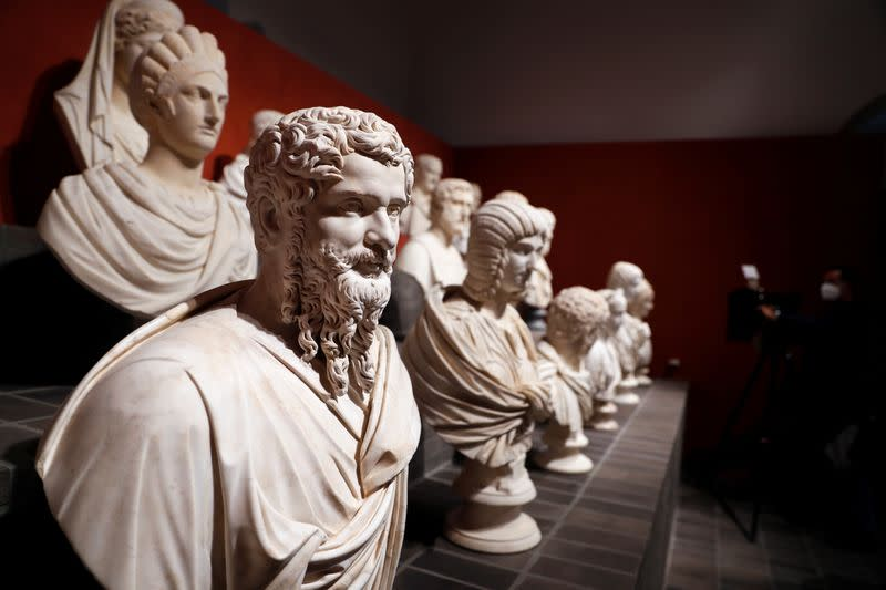 Ancient statues emerge from the shadows in blockbuster Rome show