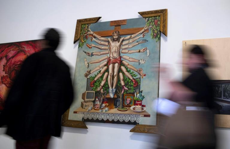 The exhibition originally opened last year in the southern city of Porto Alegre but was forced to close by critics who accused it of attacking Christianity