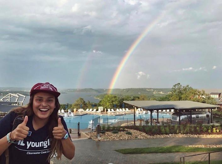 Alyssa Silva is pictured here in 2017 working as a summer intern at Clearwater Cove, a Young Life camp in Missouri. (Photo: Courtesy of Alyssa Silva)