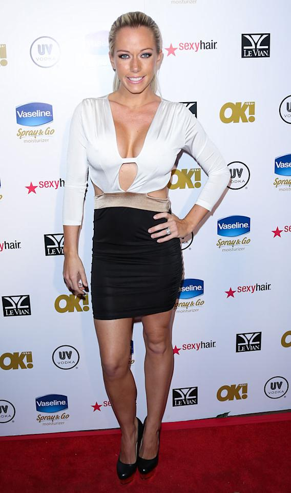 Kendra Wilkinson  attends OK! Magazine's Pre-Oscar party at The Emerson Theatre on February 22, 2013 in Hollywood, California