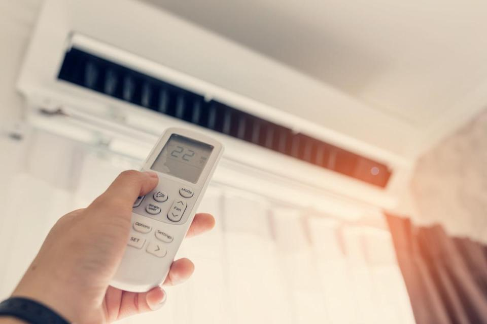 Indoor air conditioner with female operating remote controller