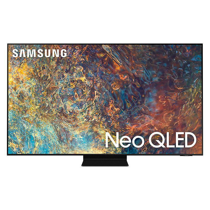 """<p><strong>Samsung</strong></p><p>amazon.com</p><p><strong>$2197.99</strong></p><p><a href=""""https://www.amazon.com/dp/B08V3K77SC?tag=syn-yahoo-20&ascsubtag=%5Bartid%7C10060.g.37203677%5Bsrc%7Cyahoo-us"""" rel=""""nofollow noopener"""" target=""""_blank"""" data-ylk=""""slk:Shop Now"""" class=""""link rapid-noclick-resp"""">Shop Now</a></p><p><strong>Key Specs</strong><strong><br></strong></p><ul><li><strong>Screen sizes:</strong> 50, 55, 65, 75, 85 in.</li><li><strong>Screen type:</strong> QLED</li><li><strong>Refresh rate:</strong> 120Hz</li><li><strong>Ports:</strong> 4 HDMI, 2 USB 2.0</li><li><strong>Dimensions:</strong> 48.3 x 27.8 x 1 in. (55 in.)</li><li><strong>Weight:</strong> 39 lb. </li></ul><p>If you want to understand all the hoopla surrounding quantum-dot technology, look no further than the Samsung QN90A Neo QLED 4K Smart TV. The ultra-rich colors are superb, and super sharp details add a new dimension of realism to your viewing. The tiny hyper-focused light cells both brighten and dim accordingly to create a stunning, anti-reflective picture that pops off of the screen. The TV also uses a Neo Quantum processor to learn and analyze the content in each scene and make adjustments as necessary, while the object-tracking sound provides immersive audio. Samsung TV Plus provides plenty of subscription-free TV channels, and the elegantly-slim TV also works with Alexa and Google Assistant.</p>"""