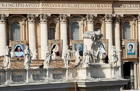 Mass for the canonisation of five persons at the Vatican