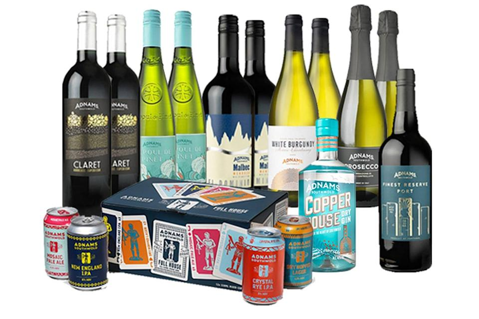 Adnams Christmas All Wrapped Up drinks bundle