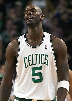 Some within the Celtics organization would rather have Kevin Garnett rest his injured right knee