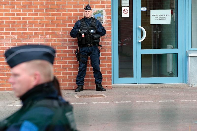 The election is taking place under heavy security (AFP Photo/joel SAGET)