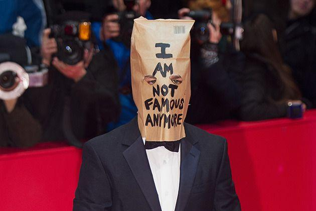 LaBeouf originally debuted the paper bag on Feb. 9 this year at the Berlin Film Festival. Photo: Getty Images