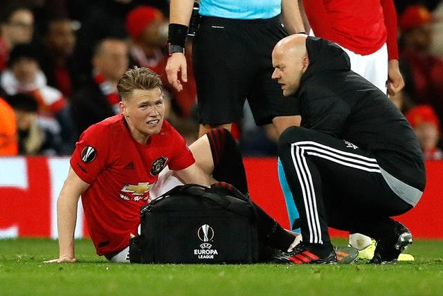 Scott McTominay could be fit to face Tottenham (Martin Rickett/PA)