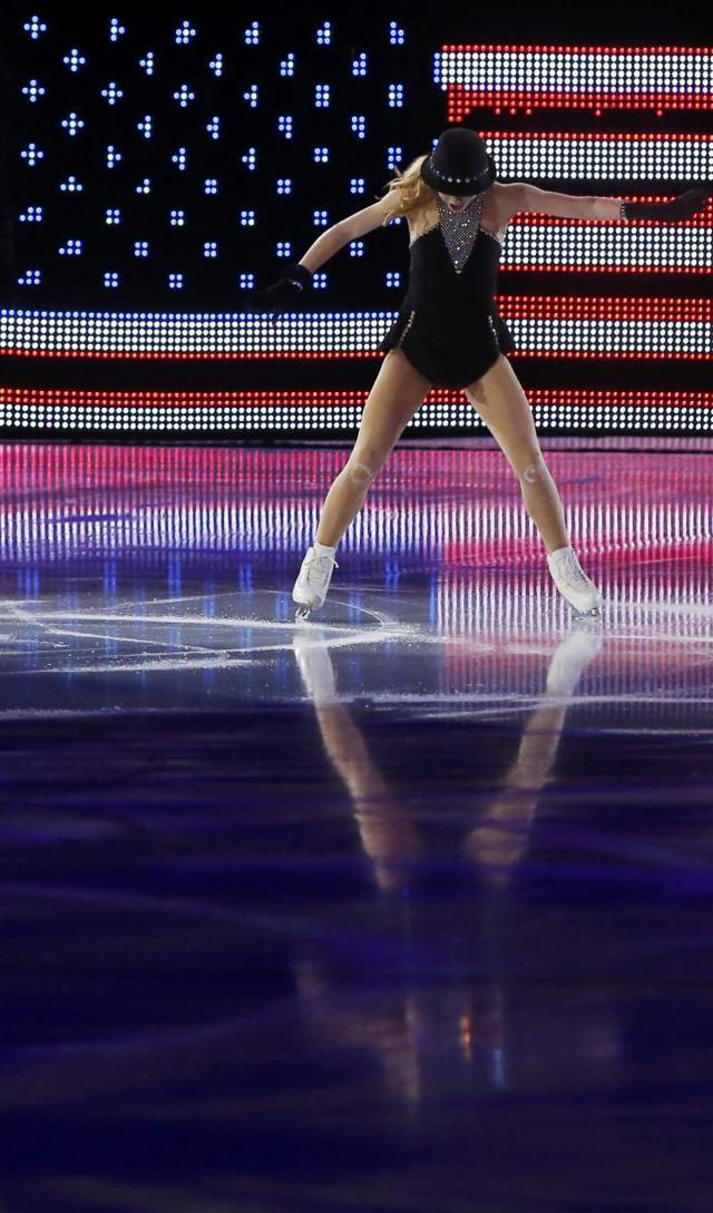 Gracie Gold of the U.S. performs during the Figure Skating Gala Exhibition at the Sochi 2014 Winter Olympics, February 22, 2014. REUTERS/Alexander Demianchuk (RUSSIA - Tags: SPORT FIGURE SKATING SPORT OLYMPICS)