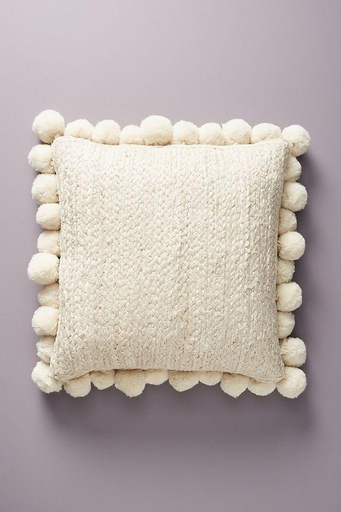 "You can use this piece interchangeably on your made-up bed or as extra back support for your office chair.<br><br><strong><em><a href=""https://www.anthropologie.com/room-wall-decor"" rel=""nofollow noopener"" target=""_blank"" data-ylk=""slk:Shop Anthropologie"" class=""link rapid-noclick-resp"">Shop Anthropologie</a></em></strong> <br><br><strong>Anthropologie</strong> Pommed Jute Pillow, $, available at <a href=""https://go.skimresources.com/?id=30283X879131&url=https%3A%2F%2Fwww.anthropologie.com%2Fshop%2Fpommed-jute-pillow2%3Fcolor%3D011%26type%3DSTANDARD%26size%3D18%2522%2520X%252018%2522%26quantity%3D1"" rel=""nofollow noopener"" target=""_blank"" data-ylk=""slk:Anthropologie"" class=""link rapid-noclick-resp"">Anthropologie</a>"