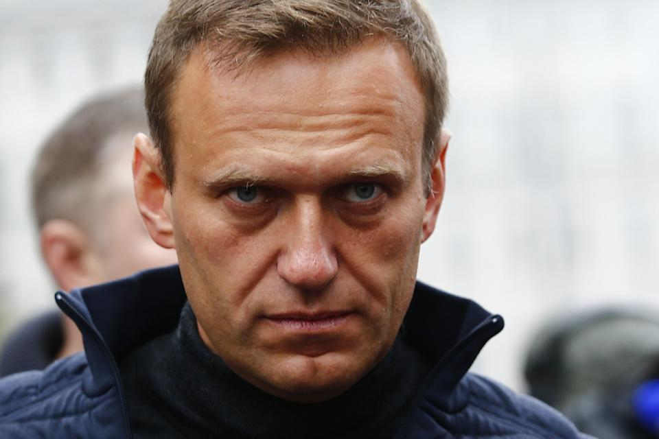MOSCOW, RUSSIA - (ARCHIVE) : A file photo dated September 29, 2019 shows Russian opposition leader Alexei Navalny during a rally in support of political prisoners in Prospekt Sakharova Street in Moscow, Russia.  Alexei Navalny is unconscious in hospital after allegedly being poisoned, according to his press secretary. (Photo by Sefa Karacan/Anadolu Agency via Getty Images) (Photo: Anadolu Agency via Getty Images)
