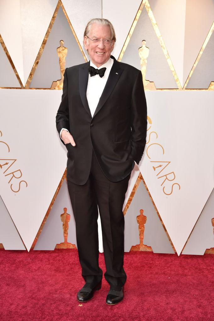 <p>Donald Sutherland attends the 90th Academy Awards in Hollywood, Calif., March 4, 2018. (Photo: Getty Images) </p>