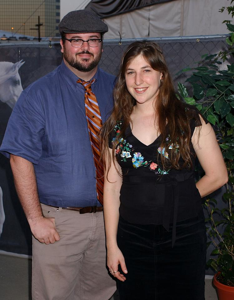 "Mayim Bialik and husband Michael Stone during Opening Night of ""Cavalia"" - Arrivals at Big Top in Glendale in Glendale, California, United States. (Photo by Gregg DeGuire/WireImage for BWR Public Relations)"