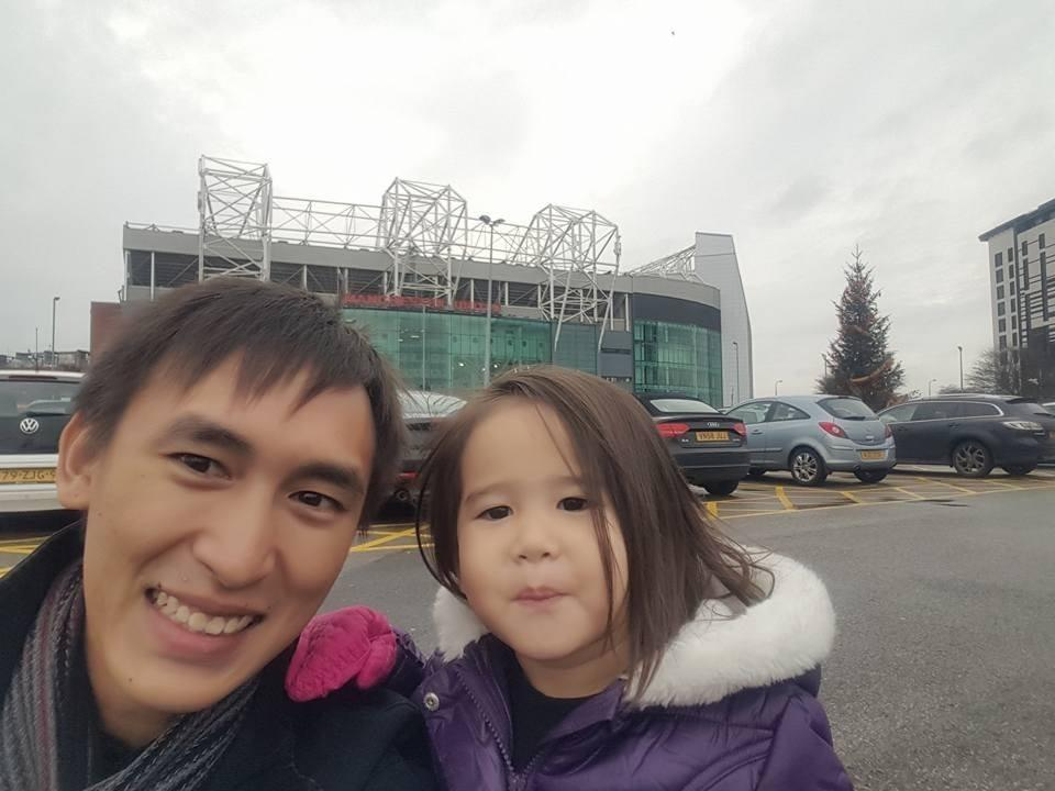 Alexander with his Liverpool-supporting daughter.