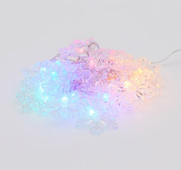 These $9.60 multicoloured snowflake String Lights from Big W are a fresh twist on tradition.
