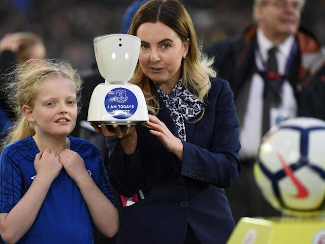 How a robot helped young Everton fan Jack McLinden fulfil his Goodison Park dream
