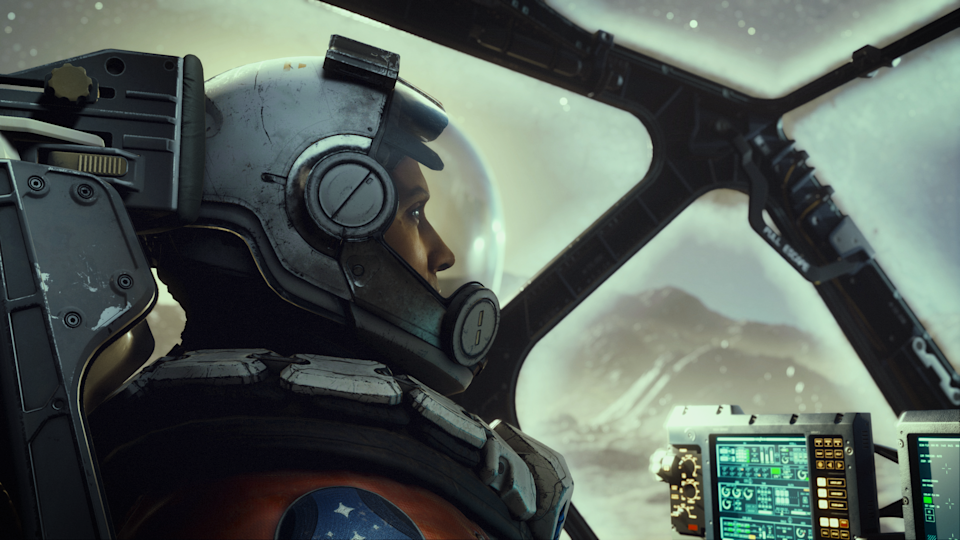 A scene from the upcoming sci-fi game 'Starfield.'