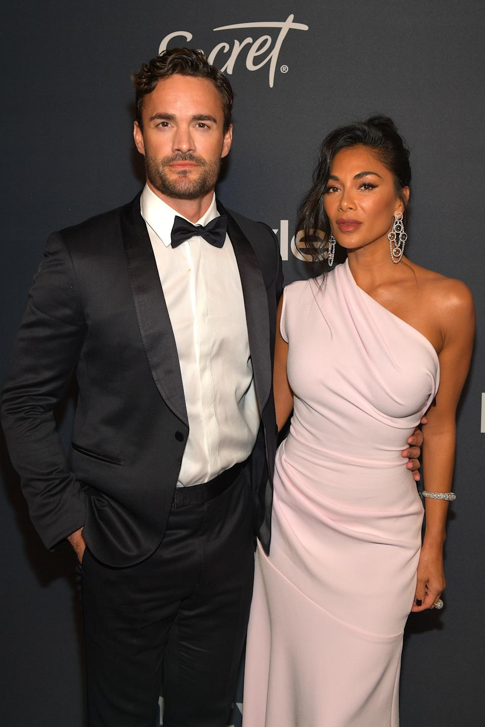 Thom Evans and Nicole Scherzinger attend The 2020 InStyle And Warner Bros. 77th Annual Golden Globe Awards Post-Party at The Beverly Hilton Hotel on January 05, 2020 in Beverly Hills, California. (Photo by Matt Winkelmeyer/Getty Images for InStyle)
