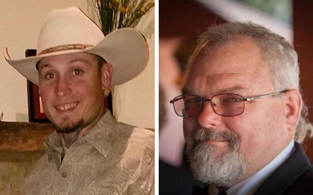 Johnnie Langendorff, left, and Stephen Willeford helped stop the gunman
