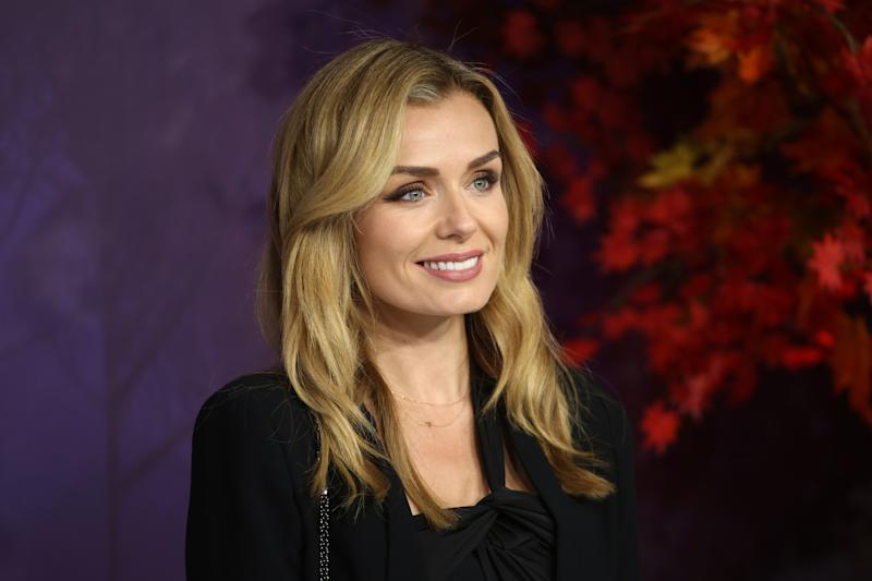 "LONDON, ENGLAND - NOVEMBER 17: Katherine Jenkins attends the ""Frozen 2"" European premiere at BFI Southbank on November 17, 2019 in London, England. (Photo by Lia Toby/Getty Images)"