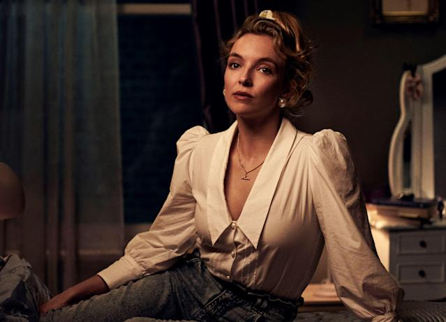 Jodie Comer plays Lesley in the BBC's new production of Alan Bennett's <em>Talking Heads</em>. (BBC/London Theatre Company/Zac Nicholson)