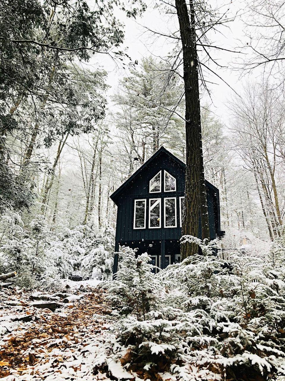 "<p>Like something out of a fairytale, this dreamy A-frame home is tucked away in the woods alongside the Delaware River. It looks magical. </p><p><a class=""link rapid-noclick-resp"" href=""https://go.redirectingat.com?id=127X1599956&url=https%3A%2F%2Fwww.airbnb.co.uk%2Frooms%2F44148568&sref=https%3A%2F%2Fwww.redonline.co.uk%2Ftravel%2Finspiration%2Fg35466875%2Fairbnb-most-liked-homes%2F"" rel=""nofollow noopener"" target=""_blank"" data-ylk=""slk:MORE INFO"">MORE INFO</a></p>"