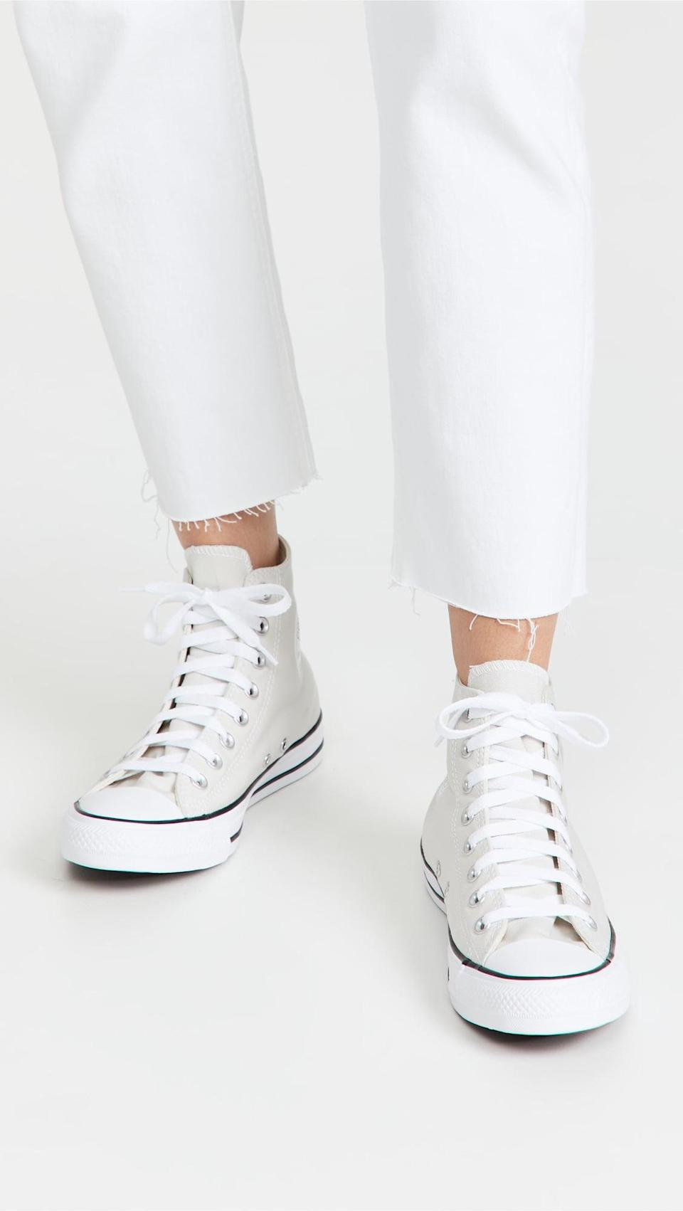 <p>These <span>Converse Chuck Taylor All Star High Top Sneakers</span> ($60) are a wardrobe essential. </p>