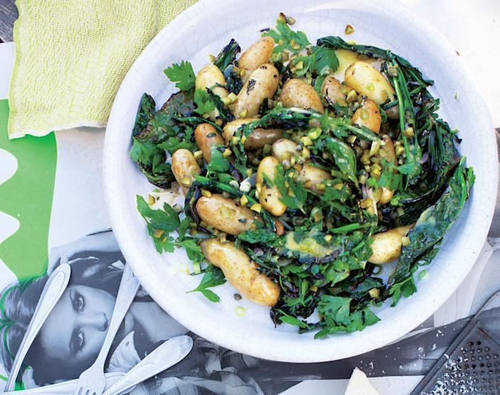 """<a href=""""https://www.bonappetit.com/recipe/potato-salad-with-grilled-kale?mbid=synd_yahoo_rss"""" rel=""""nofollow noopener"""" target=""""_blank"""" data-ylk=""""slk:See recipe."""" class=""""link rapid-noclick-resp"""">See recipe.</a>"""