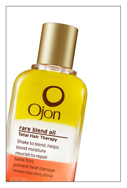 """<div class=""""caption-credit""""> Photo by: TotalBeauty.com</div><div class=""""caption-title"""">Ojon Rare Blend Oil, $35</div>Don't be fooled by the mesmerizing layers of color -- this is a serious hair oil. The red oil is from the Ojon nut, and it's high in antioxidants. The clear is Tahitian Monoi oil (coconut infused with Tiare flower), which smells like tropical heaven and protects the hair. And the yellow is Kukui oil, an impressive hydrator. All you need is a few drops -- use it wet or dry -- for impressive results. (Shiny, soft, frizz-free hair -- you know the drill.)"""