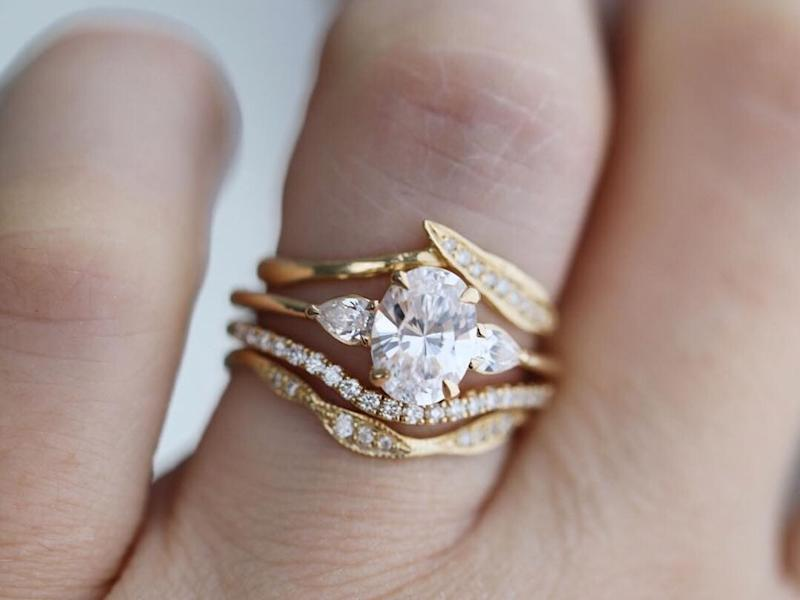 This Stunning Engagement Ring Trend Is Blowing Up Thanks to
