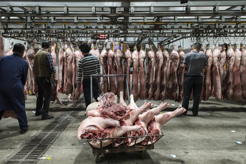 """(Bloomberg) -- China, the world's top pork consumer, imported a record volume of meat in May in a bid to mitigate the impact of African swine fever as domestic pork prices rebound.China bought 556,276 tones of meat and offal in May, up about 45% from a year earlier, according to official customs data published on Sunday. That brings total imports in the first five months to 2.2 million metric tons, a 23% increase from last year.Pork imports surged the most among the meats, increasing 63% to 187,459 tons in May from a year earlier. Lamb shipments climbed 53% to 42,036 tons, while beef imports rose 41% to 123,720 tons. Frozen chicken purchases grew 26% to 63,430 tons, customs data showed.Imports are unlikely to slow down, despite limited cold storage space at China's major ports, said Pan Chenjun, a livestock analyst at Rabobank in Hong Kong.For Chinese domestic pork, chicken, vegetable and fruits prices, please search ALLX CNPO.Still, import growth for the whole year will likely be capped as China is shunning U.S. supplies due to the trade spat between the two countries, said Jim Huang, chief executive officer of China-data.com.cn, a consultant for the agriculture industry.""""There will not be enough meat elsewhere for China,"""" said Huang. Pork prices in some areas of the country have recently picked up despite low seasonal demand, indicating tight supply is looming, said Huang. Wholesale pork spot prices were at 21.55 yuan a kilogram on June 14, up 12% from the same period last year.To contact Bloomberg News staff for this story: Niu Shuping in Beijing at nshuping@bloomberg.netTo contact the editors responsible for this story: Anna Kitanaka at akitanaka@bloomberg.net, Ben SharplesFor more articles like this, please visit us at bloomberg.com©2019 Bloomberg L.P."""