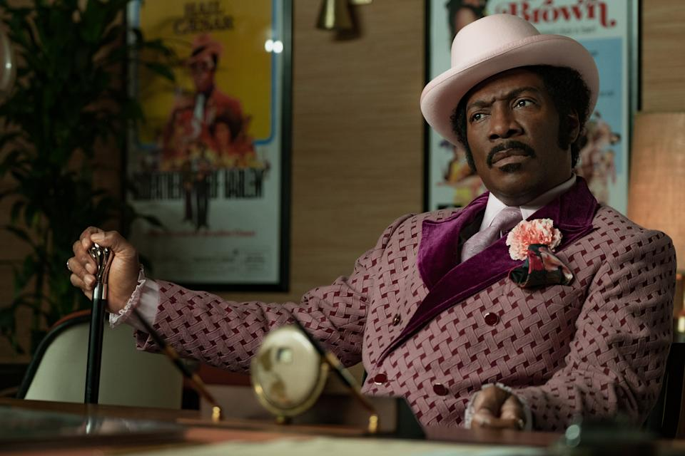 "<h3><strong><em>Dolemite Is My Name</em></strong><br>October 26</h3><br><br>Eddie Murphy stars in this<a href=""https://deadline.com/2018/06/eddie-murphy-dolemite-rudy-ray-moore-netflix-movie-craig-brewer-blaxploitation-hero-scott-alexander-larry-karaszewski-1202404562/"" rel=""nofollow noopener"" target=""_blank"" data-ylk=""slk:biopic of Rudy Ray Moore"" class=""link rapid-noclick-resp""> biopic of Rudy Ray Moore</a>, a 1970s comedian best known for his Blaxploitation films."