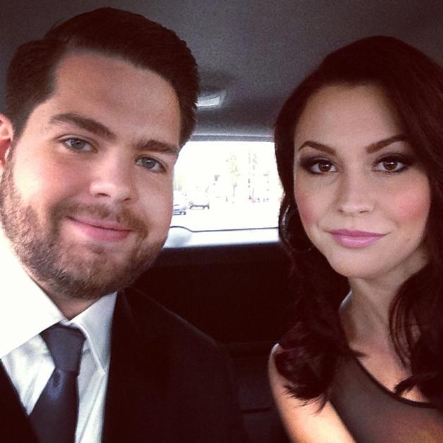 Backstage at the Grammys 2013: Jack Osbourne and his wife Lisa tweeted this snap of themselves as they made their way to the ceremony. Copyright [Jack Osbourne]