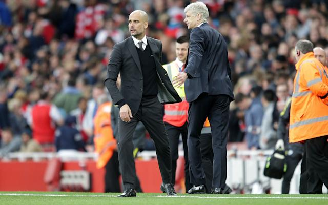 <span>Pep Guardiola and Arsene Wenger go head to head</span> <span>Credit: REX FEATURES </span>
