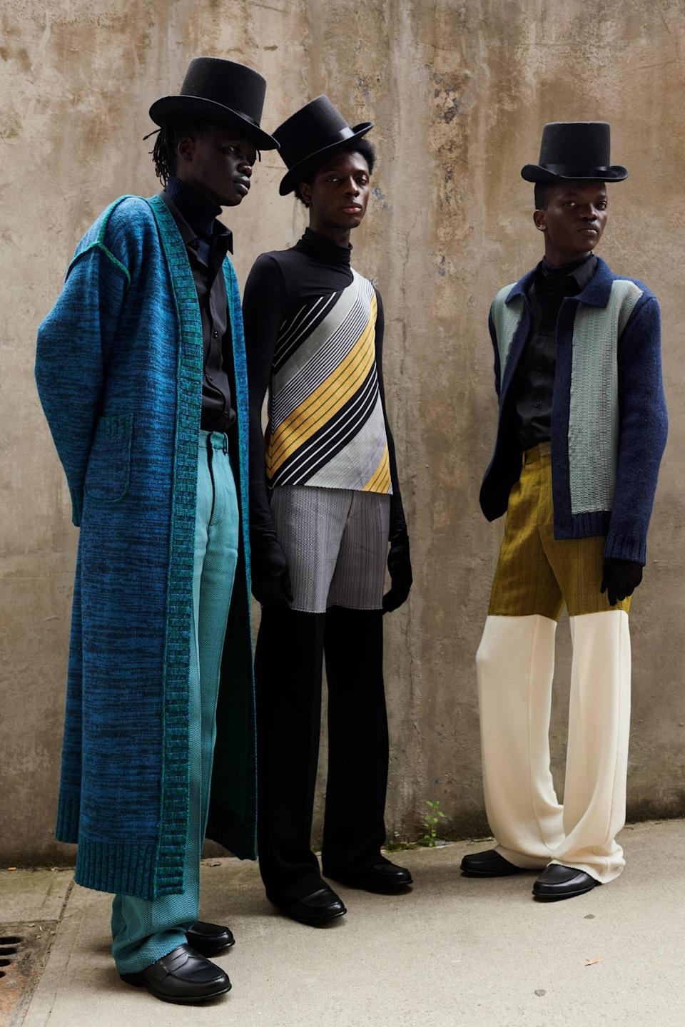 Kenneth Ize's look for the International Woolmark Prize