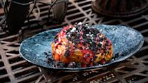 """The Mustafarian Lava Roll, a mysterious pastry named for the volcanic planet Mustafar, is described only as """"a sweet galactic delight."""" Guests can find it at both Docking Bay 7 Food and Cargo and Oga's Cantina. (Photo: David Nguyen/Disney Parks)"""