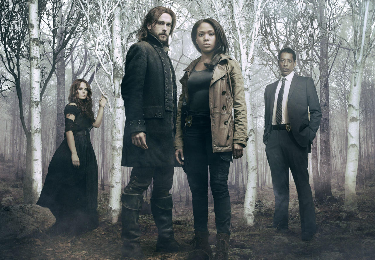 "Katia Winters, Tom Mison, Nicole Beharie, and Orlando Jones in ""Sleepy Hollow"" on Fox."